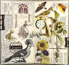 constance rose : art and life Create Collage, Collage Art, Painting Collage, Glue Book, Process Art, The 5th Of November, Old Postcards, Recycled Art, Love Painting