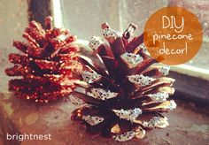 Discover 3 easy DIY pinecone decor projects for the holidays.