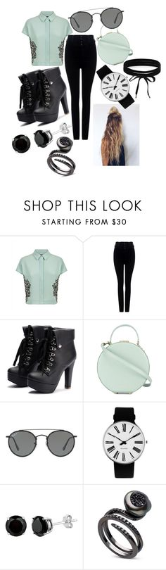 """""""Gotta Go."""" by nudge-411 ❤ liked on Polyvore featuring Jaeger, Citizens of Humanity, Tammy & Benjamin, Ray-Ban, Rosendahl and Boohoo"""