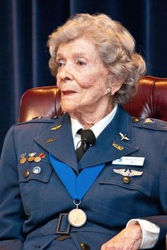 """Bernice """"Bee"""" Haydu is interviewed June 5, 2014, at Maxwell Air Force Base, Ala. Haydu is a veteran pilot of World War II. She earned her wings with the Women Airforce Service Pilots, the first women to fly American military aircraft. She also helped lead the fight in Congress to recognize WASP members as veterans. (U.S. Air Force photo/Donna L. Burnett)"""
