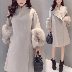 Весна-осень-зима Для женщин Шерстяное пальто, пальто в Корейском стиле Модные женские Куртки дамы шерстяные пальто/Высокое качество AL506