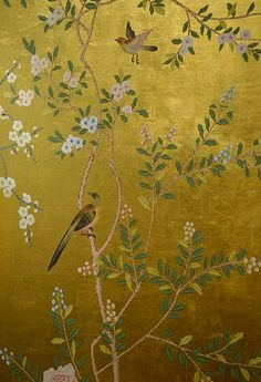 De Gournay Wallpaper - Hand painted fab!