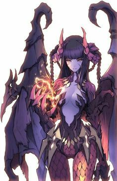 Monster Girl Yuris (Requests on hold) - Succubus X Abused Female Reader Fantasy Kunst, Anime Fantasy, Dark Fantasy Art, Fantasy Girl, Sucubus Anime, Anime Angel, Anime Demon, Fantasy Character Design, Character Concept