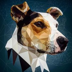 First of three pet portraits. #graphicdesign #illustrator #illustration #noapp #wacom #dog #pet #portrait #dogsofinstagram #myart #art #vector #thevectorproject #thedesigntip #design #lowpoly #digital #dribbble #artfido