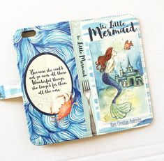 Book phone /iPhone flip Wallet case- Little Mermaid for iPhone 6/6s, 6 plus, 5…