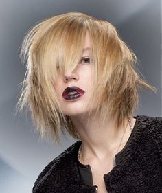 A medium blonde straight coloured hairstyle by Wella
