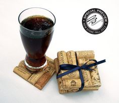 Wine Cork Coasters -