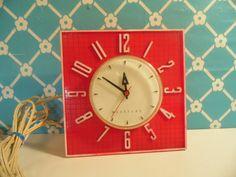 Red Kitchen Clock  Westclock  Square