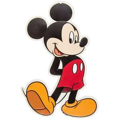 Dash your walls with some unbearable cuteness with Mickey Mouse Tin Sign. Featuring big shoes, a cute nose, and the classic red shorts, this adorable Mickey Mouse sign will be perfect for your enterta