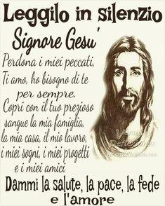 Benediction Prayer, Italian Words, Italian Language, Jesus Loves Me, Religious Quotes, Madonna, Quotations, Catholic, Prayers