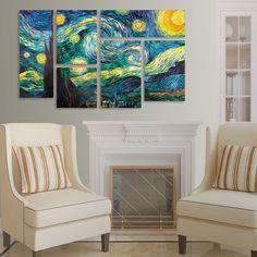 <ul><li>Artist: Vincent van Gogh</li><li>Title: 'Starry Night'</li><li>Product type: Giclee, Gallery Wrapped Around a Hidden, Wooden Frame</li></ul>