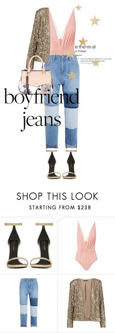 """""""bfjeans"""" by littlemisskarlee ❤ liked on Polyvore featuring Yves Saint Laurent, Clube Bossa, Steve J & Yoni P, Tart and Fiorelli"""