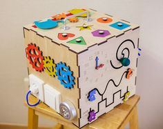 Busy Board Wooden toys Activity Board Sensory Board by TheRusWood