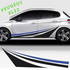 Peugeot 208 Car Stickers Decals Racing Stripes Drifting Cars