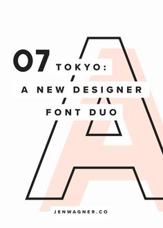 Say hello to Tokyo! This is a super cool font duo that looks especially beautiful in the context of big, colorful, artistic projects where you want to highlight a couple letters or numbers.