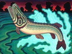 Michael Noland Unique Animals, Outsider Art, Teaching Art, Folk Art, Oil On Canvas, Whale, Pop Culture, Mystery, Fish