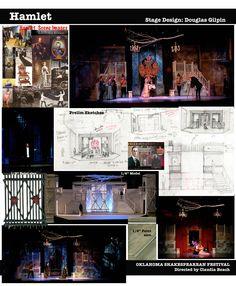 Hamlet --Oklahoma Shakespeare Festival Stage Design by Douglas Gilpin