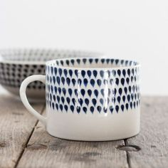 Blue Droplet Handmade Mugs | The Other Duckling