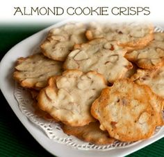 Almond Cookie Crisps Recipe | Barbara Bakes
