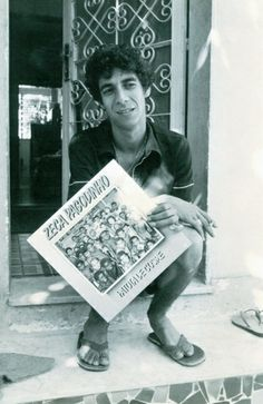 Zeca, aos 28 anos, em 1987, com o segundo álbum em mãos, Patota do Cosme