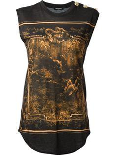 BALMAIN Oriental Print T-Shirt | The House of Beccaria
