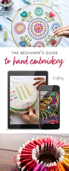 Everything you need to start embroidering with confidence.