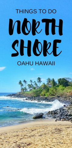 North Shore, Oahu: Hawaii vacation tips with things to do in Oahu as paid and free activities like beaches, snorkeling, waterfalls, hiking, botanical garden, with interactive Oahu map. Travel guide and checklist of Oahu activities for world travel bucket list destinations in the USA! Use it as a potential day trip itinerary as a self-guided driving tour to see Hawaii on a budget with adventure! Make the North Shore part of the best Hawaii vacation in the US... #hawaii #oahu