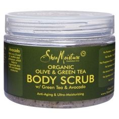 Shea Moisture ORGANIC Olive & Green Tea Body Scrub 12oz [SEALED] by Shea Moisture. $15.49. ORGANIC OLIVE & Green TEA with Avocado. each package SEALED!!!!!!. Anti-Aging & Ultra - Moisturising. individual sealed. If the product is not sealed, it is not original!. This rejuvenating scrub exfoliates and nourishes skin with moisturizing olive butteer and anti-oxidant rich green tea extract