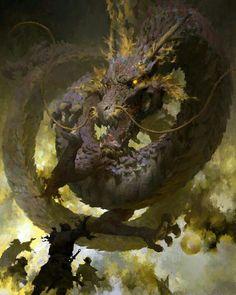 """cyberclays: """" Guild Wars 2 - by Ruan Jia """" Fantasy Dragon, Dragon Art, Fantasy Art, Dragon Wolf, Big Dragon, Water Dragon, Green Dragon, Fantasy Books, Creature Concept Art"""