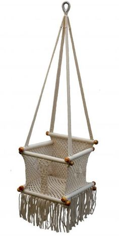 Crochet Baby Chair. Baby's First Hammock! #bohemian
