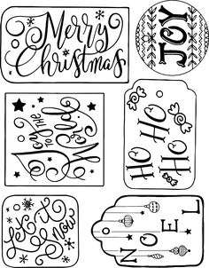 These free printable gift tags are perfect for holiday gift wrapping! Use the bright, festive colorful set or the colorless set! Christmas Gift Tags Template, Free Printable Christmas Gift Tags, Christmas Labels, Gift Tag Templates, Diy Gift Tags, Christmas Icons, Gift Labels, Doodle, Cricut