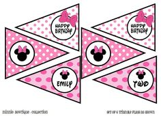 Minnie Mouse Triangles