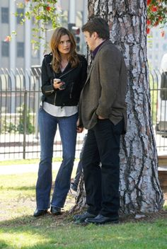 Stana Katic y Nathan Fillion - Castle