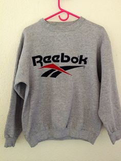 90's Retro Reebok Crewneck Sweater by freeneasy on Etsy, $35.00