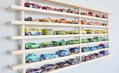 One Tier Wall Garage (holds up to 50 toy cars).