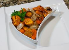 Roasted Sweet Potatoes and Carrots with Rosemary: A welcome break from the traditional candied dish we all grew up with. Sweet potatoes with carrots, garlic, onions, and rosemary create a savory flavor with an herbal flair.