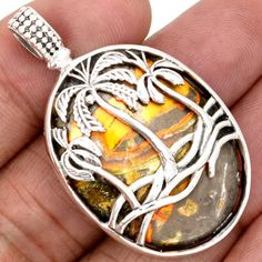 Indonesian-Bumble-Bee-925-Sterling-Silver-Pendant-Jewelry-SP141110