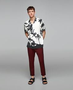 Beach Wear, Summer Outfits, Summer Clothes, Palm Trees, Sporty, Mens Fashion, Guys, Mens Tops, Barber