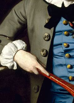 John Singleton Copley: Portrait of a Boy (detail), c.1758.