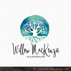 Watercolor Tree Logo Design  Watercolour Tree  Tree by SacredWilde