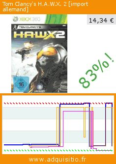 Tom Clancy's H.A.W.X. 2 [import allemand] (Jeu vidéo). Réduction de 83%! Prix actuel 14,34 €, l'ancien prix était de 86,37 €. http://www.adquisitio.fr/ubi-soft/tom-clancys-hawx-2-import