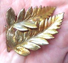 """Stunning Vintage Estate Gold Tone Flower Leaf Autumn 1 7/8"""" Brooch!! 6487H FOR SALE • $0.99 • See Photos! Money Back Guarantee. Welcome to Relic Vintage Inc. We are a top rated Ebay store and top 500 Ebay company in the entire United States. While we specialize in vintage jewelry, we love 302466491162"""