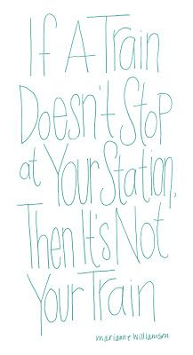 if a train doesn't stop at your station, then it's not your station.