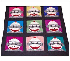Ravelry: Warhol Sock Monkey Throw pattern by Robin Denney; for the adventurous; free
