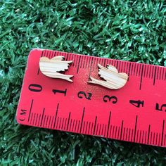 One Pair Mini Bamboo Sweet Swallow Laser Cut by CraftyCutsLaser, $1.25 #craftycutslaser #lasercut #lasercutwood