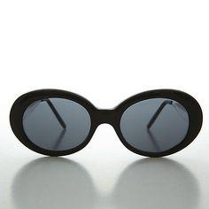 Vintage Mod Nirvana Oval Cat Eye Kurt Cobain Sunglasses NOS Black    Gray-SILVA Lunettes a15d8a0d2e6