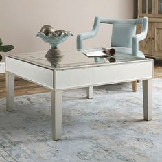 Uttermost Enrikos Mirrored Coffee Table | from hayneedle.com