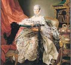 "c.1764 ""Madame de Pompadour at her Tambour Frame"" François-Hubert Drouais"