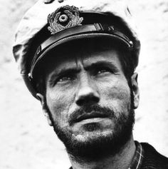 """Jürgen Prochnow -- Das Boot:"""" ORIGINAL PINNER SAYS: My brother who was in the navy and stationed on submarines said this is the most accurate sub movie he has ever seen."""""""