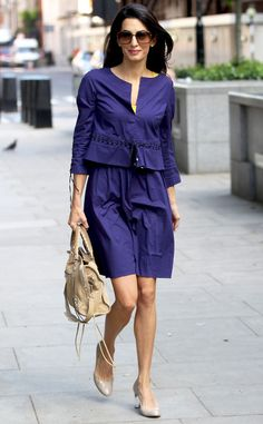 East, Breezy Blue-tiful from Amal Alamuddin's Street Style   E! Online